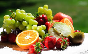 fresh fruits full of vitamins and minerals.